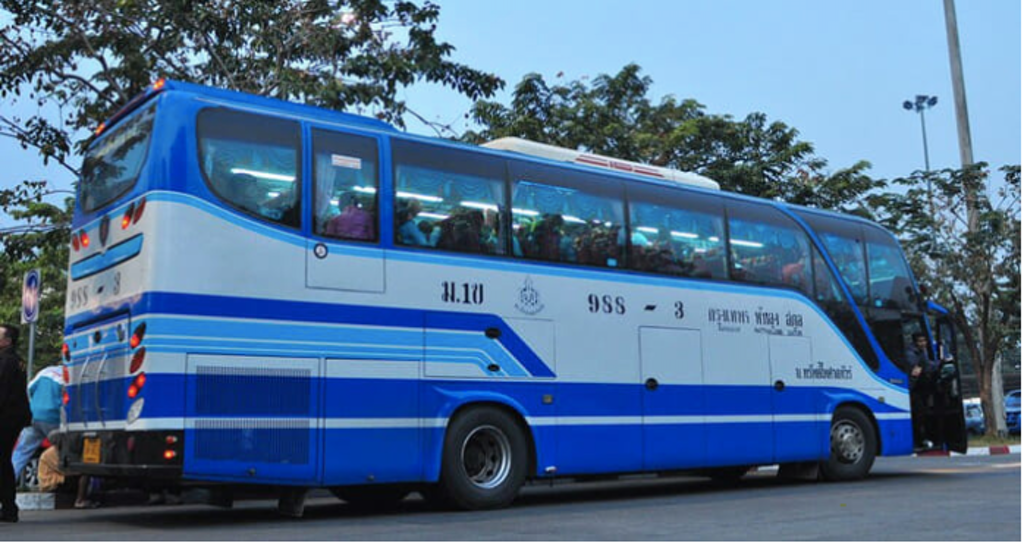 By bus to major cities in Thailand
