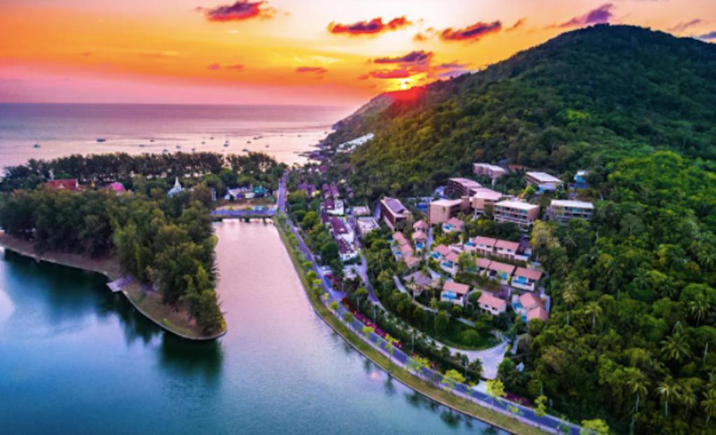 view of Phuket city,
