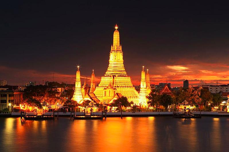 Night Time, Wat Arun
