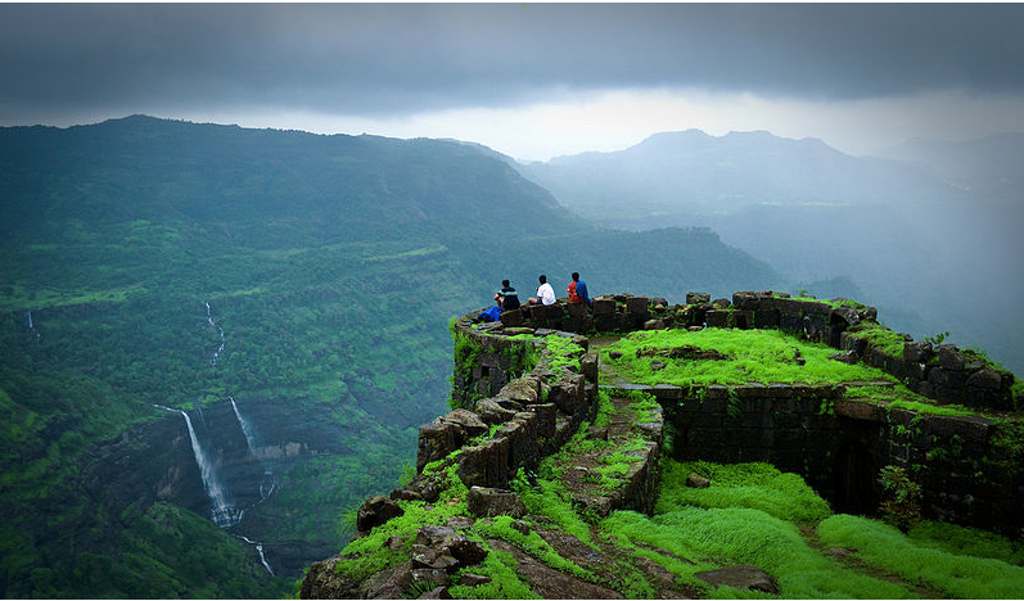 Breathtaking view from Rajmachi Fort