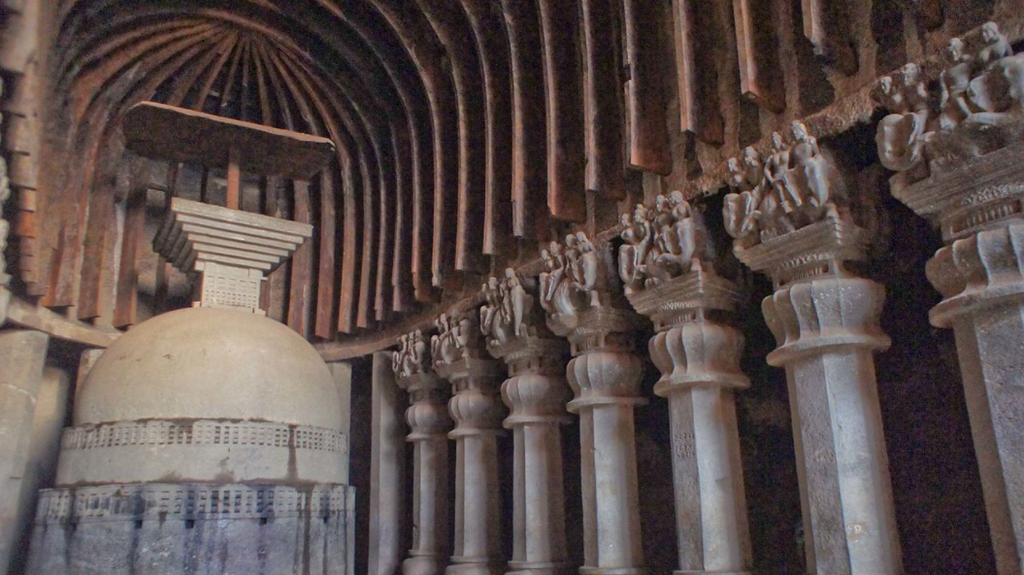 Karla caves, View from Inside
