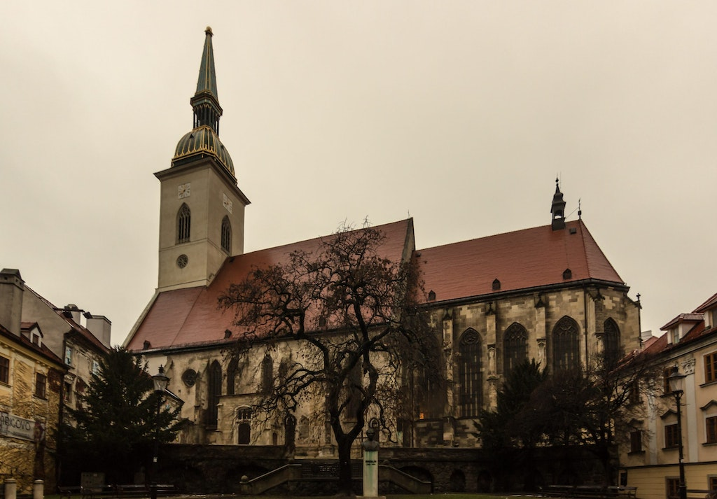 A picture of St. Martin's Cathedral, one of the best places in Bratislava