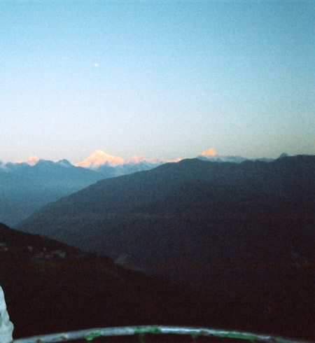 A view of the sunrise in Tashi View Point