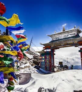 Tawang Gate in North East India during Winter