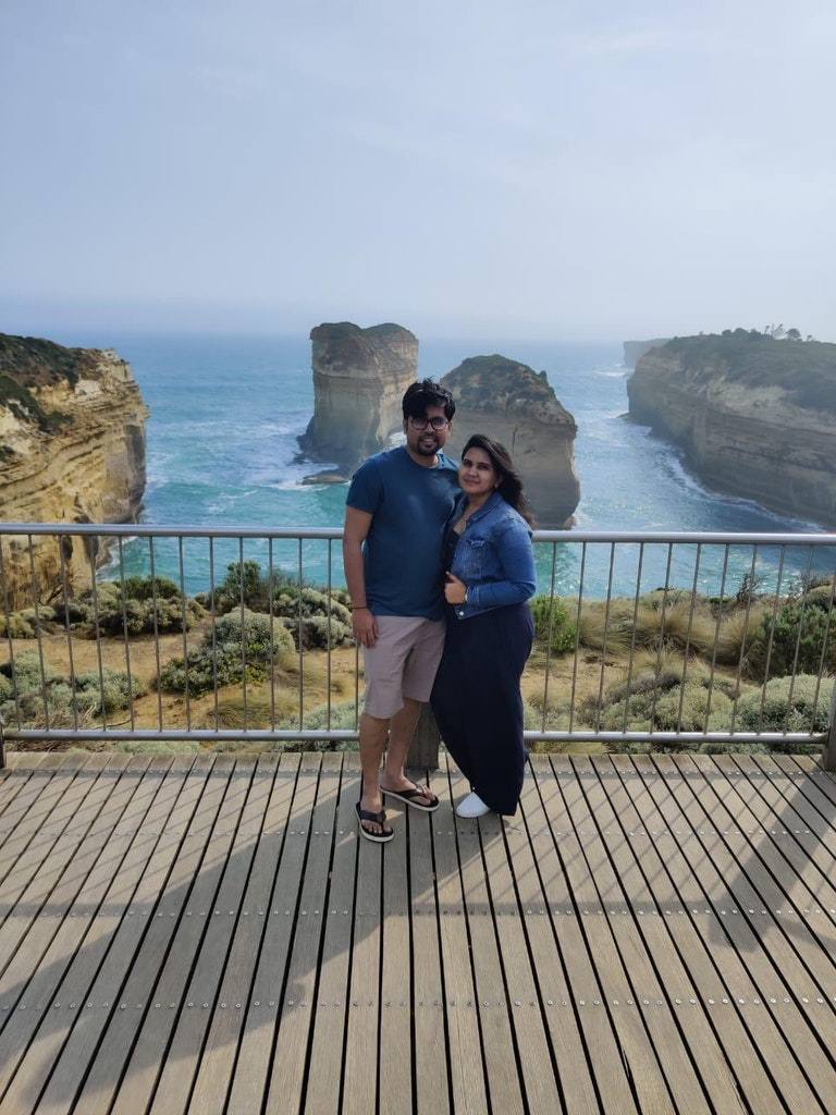 Visit to Great Ocean Road on our Honeymoon to Australia