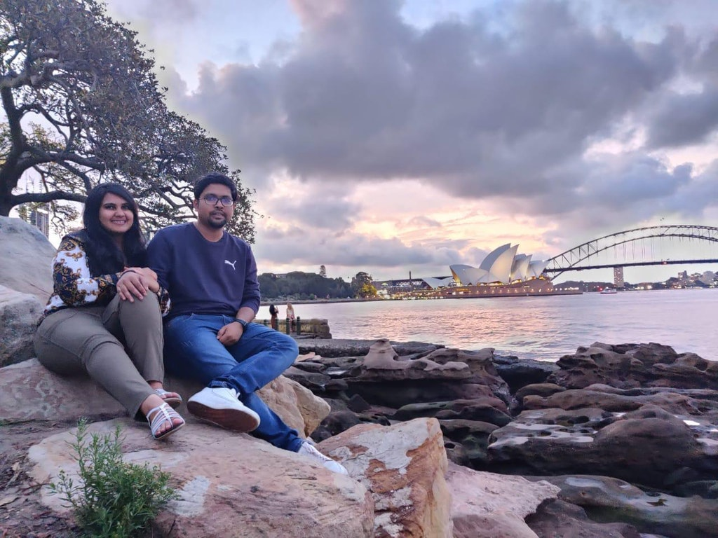While exploring Sydney during our Honeymoon to Australia