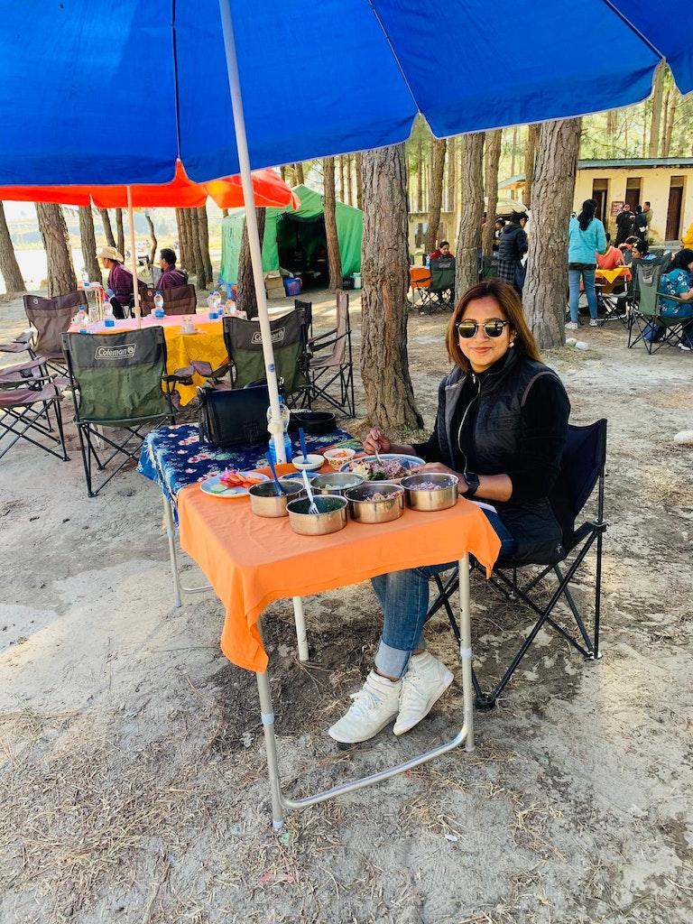 having Bhutanese food during my solo trip to Bhutan
