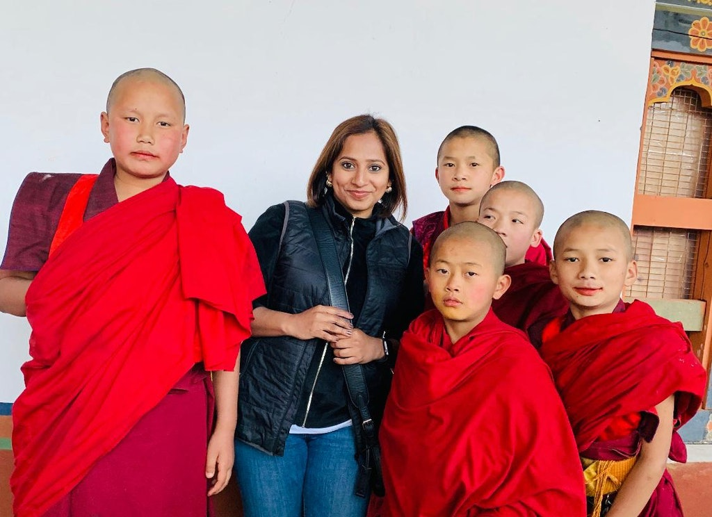 With the child monks of Bhutan