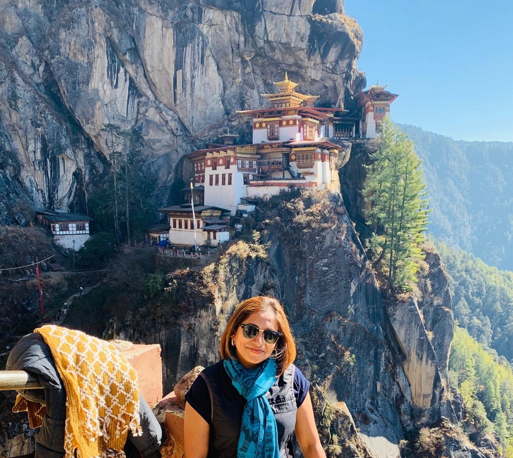 Bhutan's temple architecture during my solo trip to Bhutan