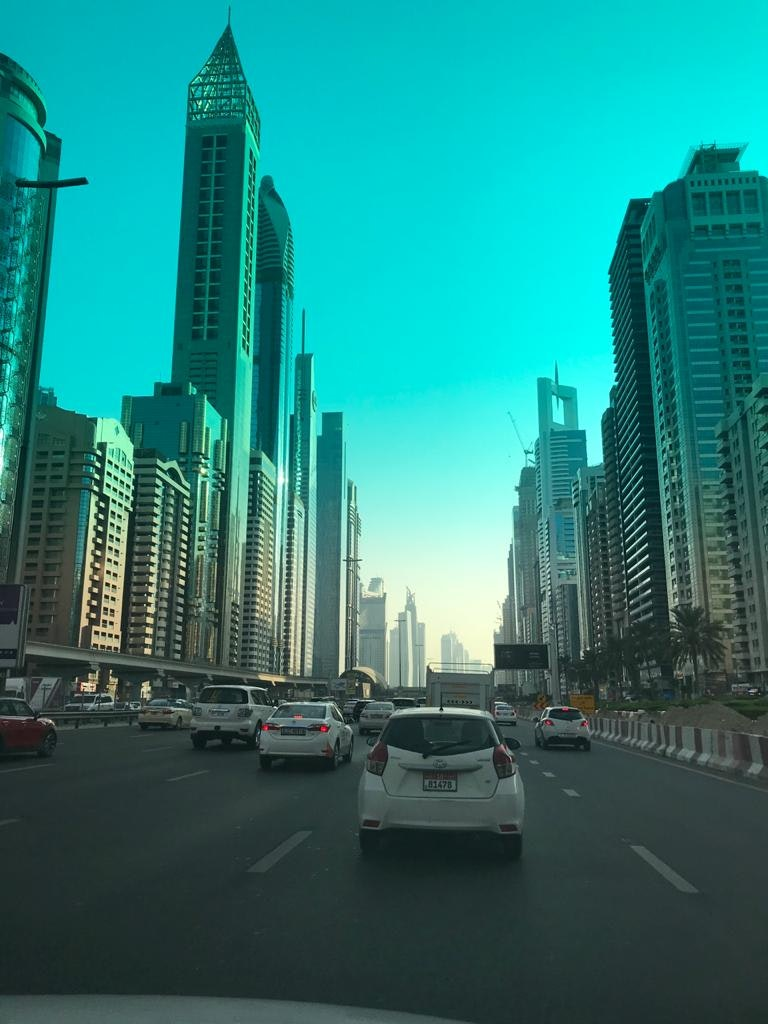 A beautiful picture of the sky touching buildings in Dubai