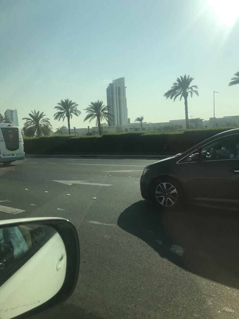 A picture of one of the roads in Dubai