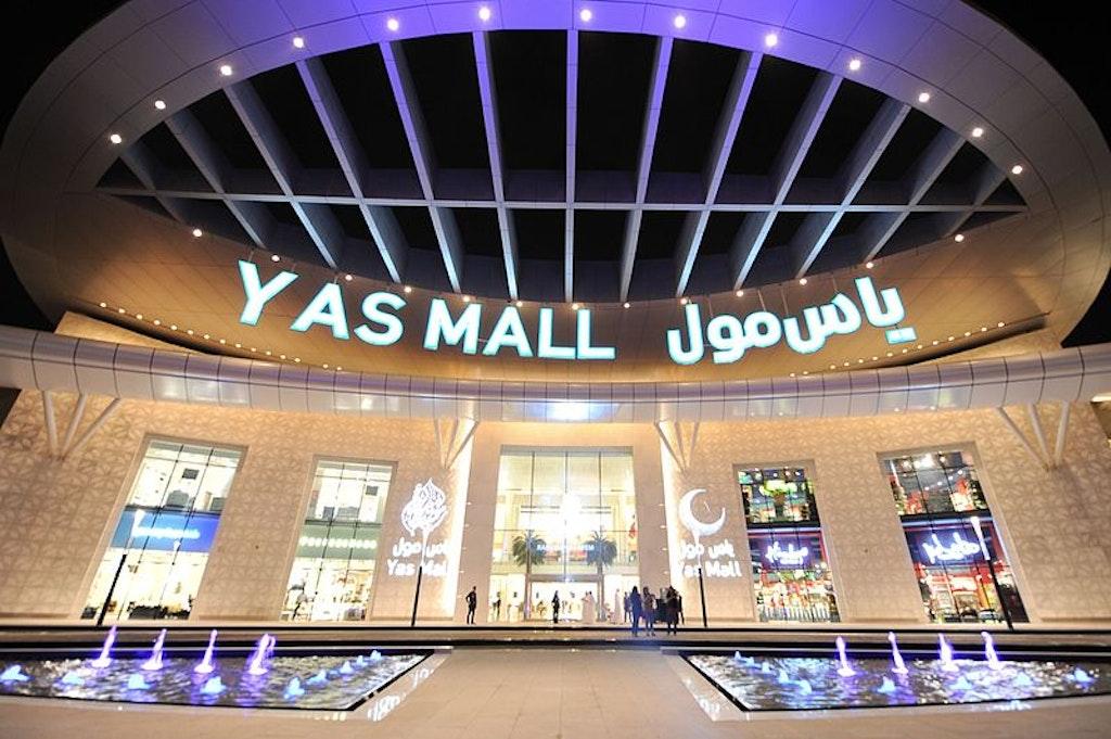 Yas Mall in Abu Dhabi Front Enterance