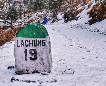Lachung village in Sikkim