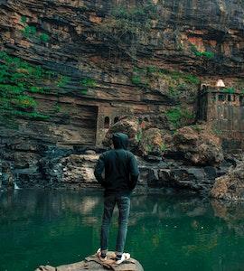 A scenic click of Garadia Mahadev Temple