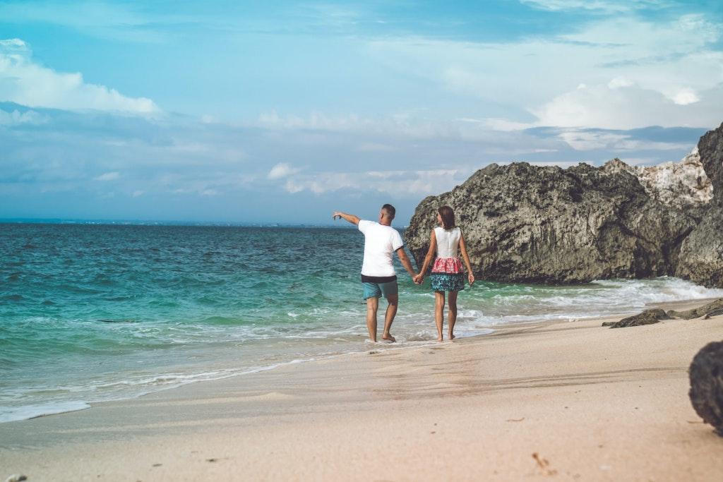 Romantic beach in Kannur