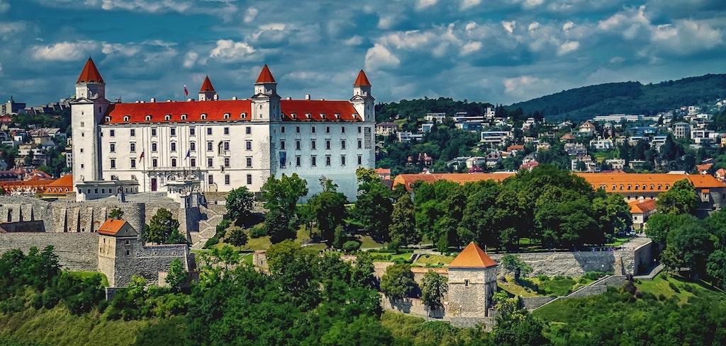 A breathtaking view of Bratislava Castle