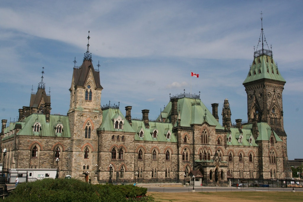 A picture of the Parliament Hill in Ottawa