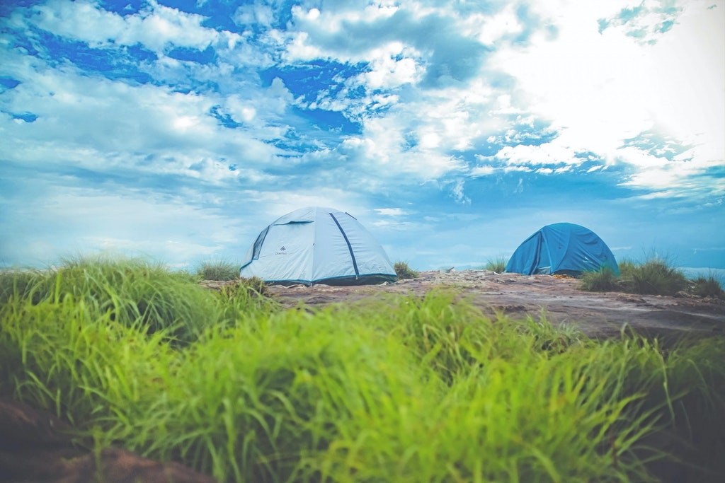 An amazing picture of tents in Wayanad in Kerala