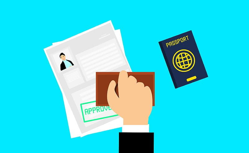 A picture illustrating the Visa approval