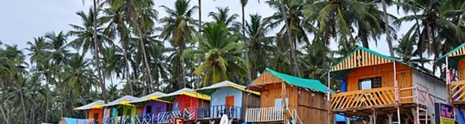 colourful cottages of Goa