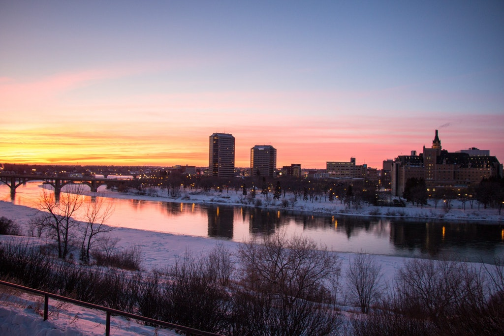 An awesome view of the city of Saskatoon in Canada