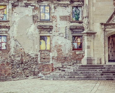 A picture of an old building in Bratislava in Slovakia
