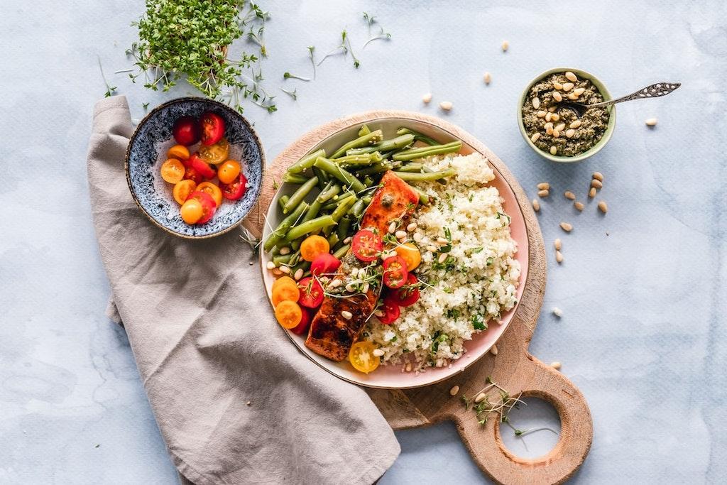 Potato and quinoa bowl