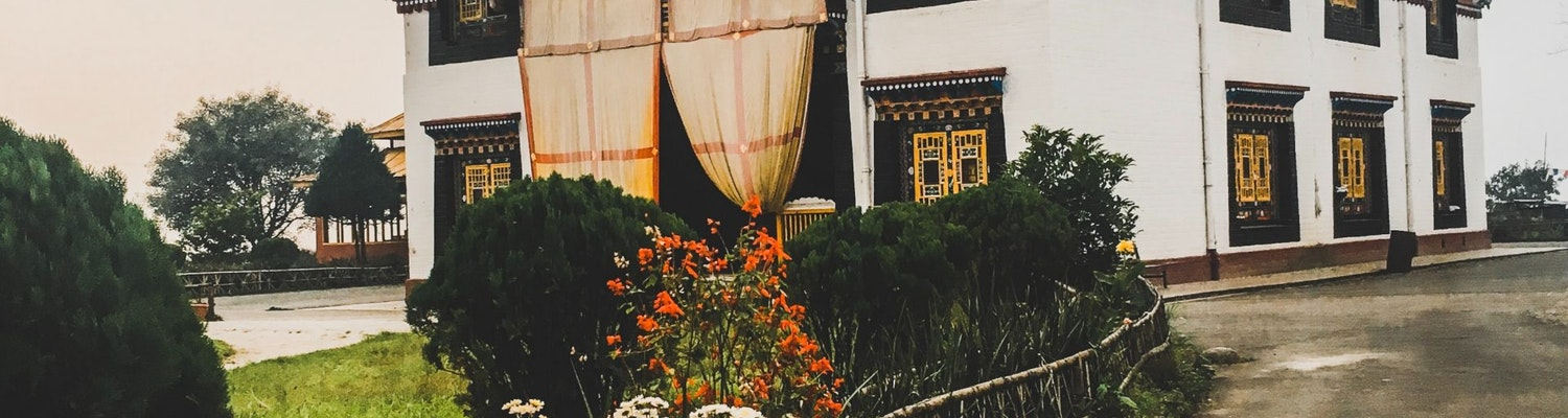 A view of the beautiful Tsuklakhang Monastery in Gangtok