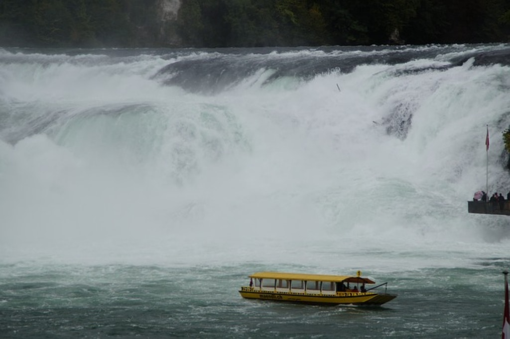 Boat cruise at Rhine falls, Things to Do in Switzerland in May