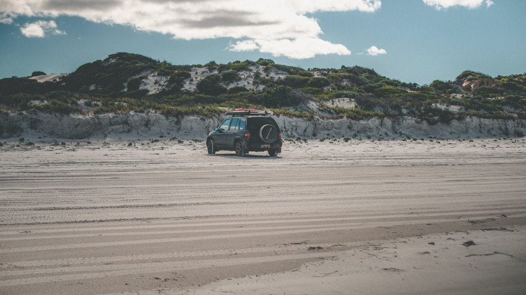 A picture of a jeep at Cape Le Grand National Park