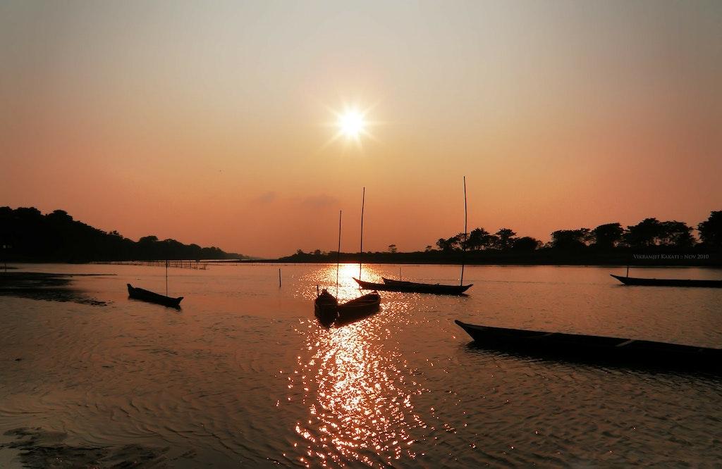 Beautiful Sunset in Assam