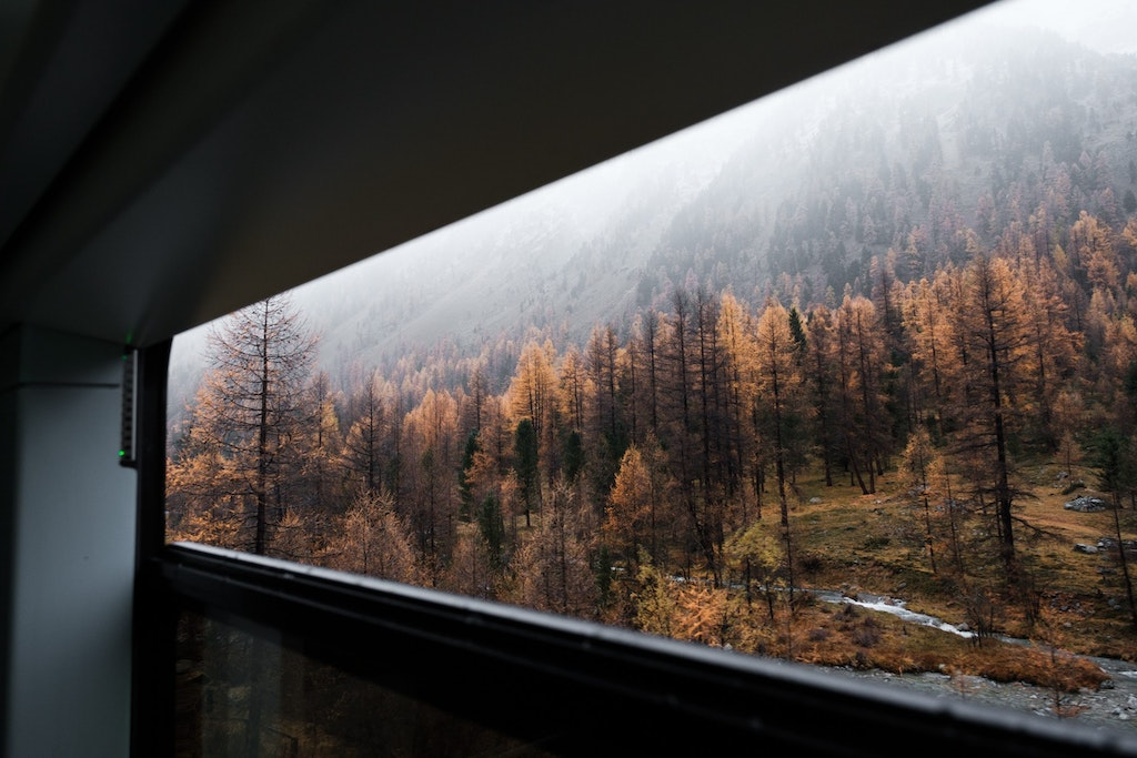 A train journey to St. Moritz on one of the day trips from Milan
