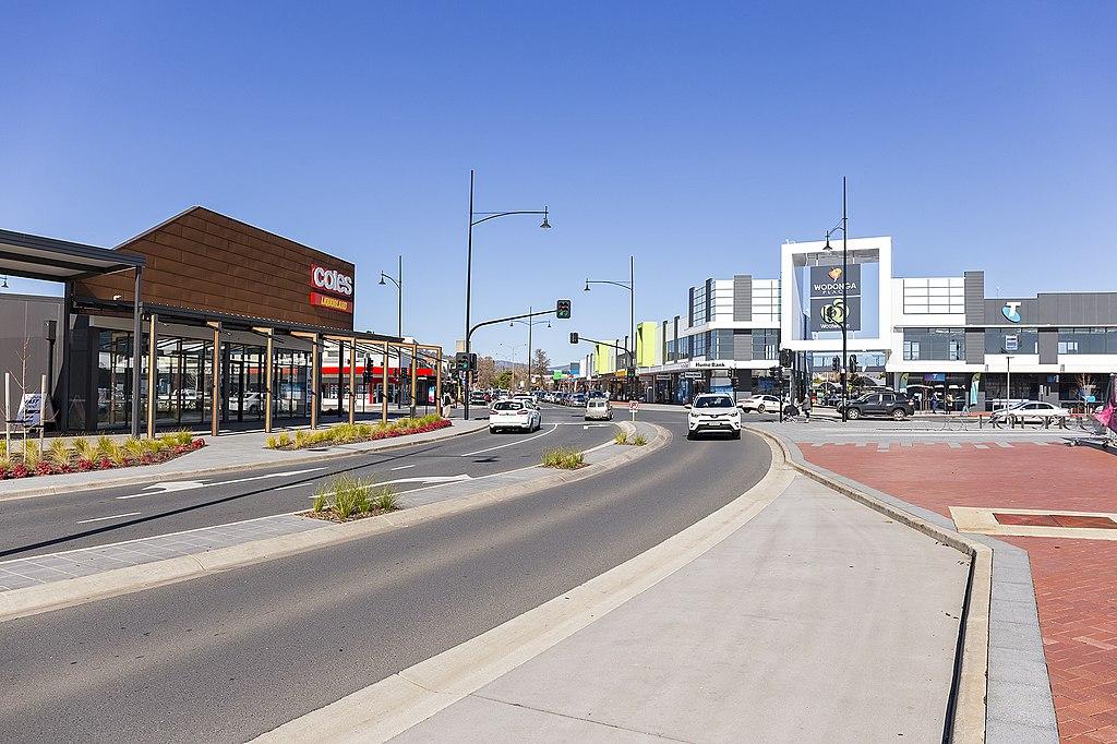 High street in Wodonga