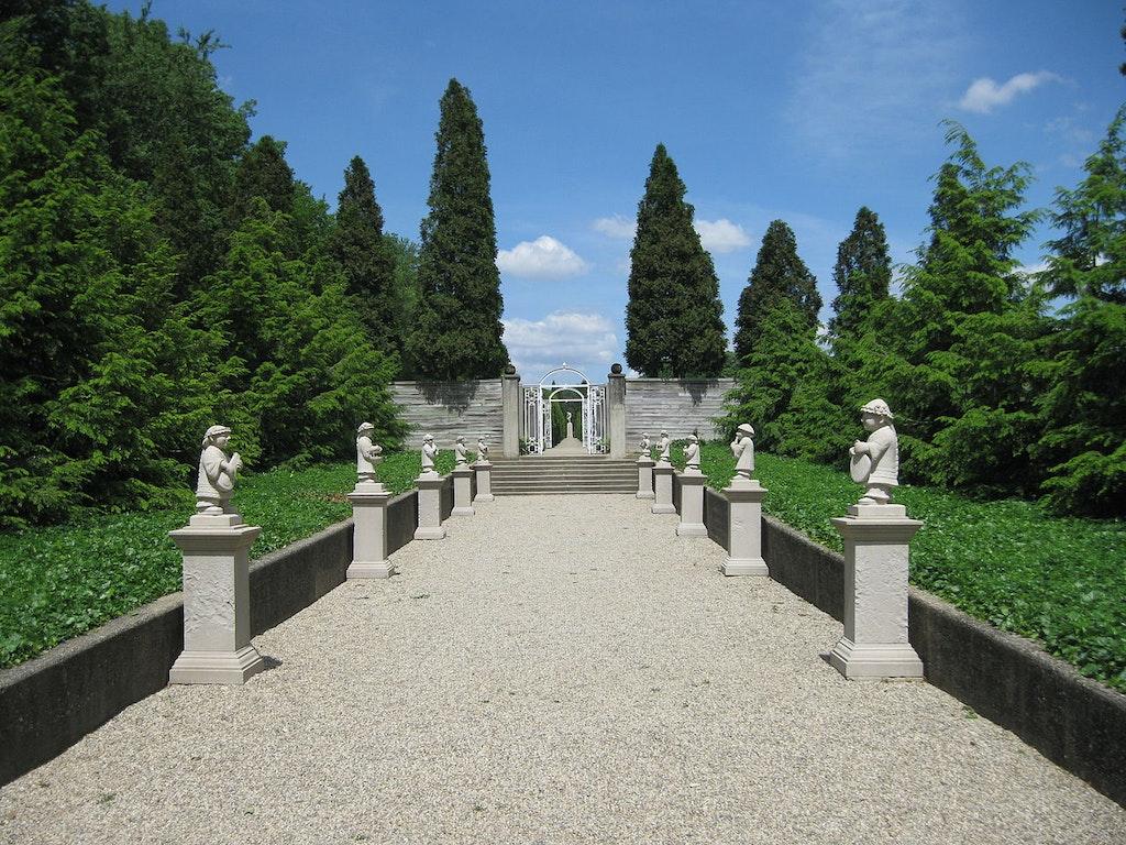 Musicians garden in Allerton Castle