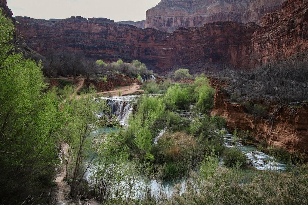 waterfall trekking route