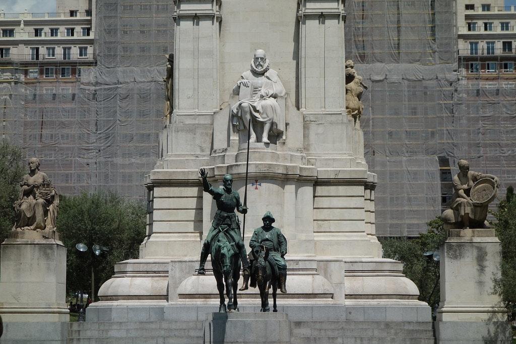 Monumento Cervantes, Plaza de España, Madrid
