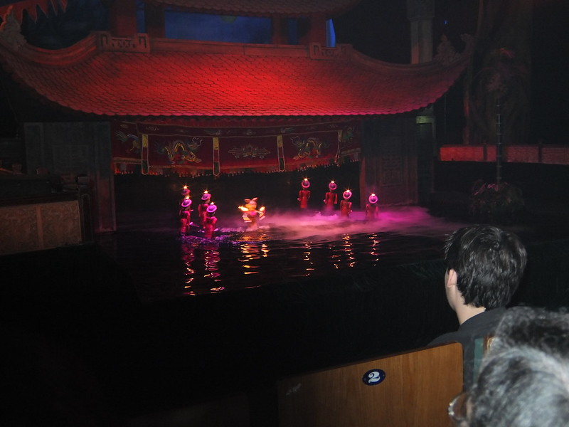 Water puppet show in the Hanoi old quarter