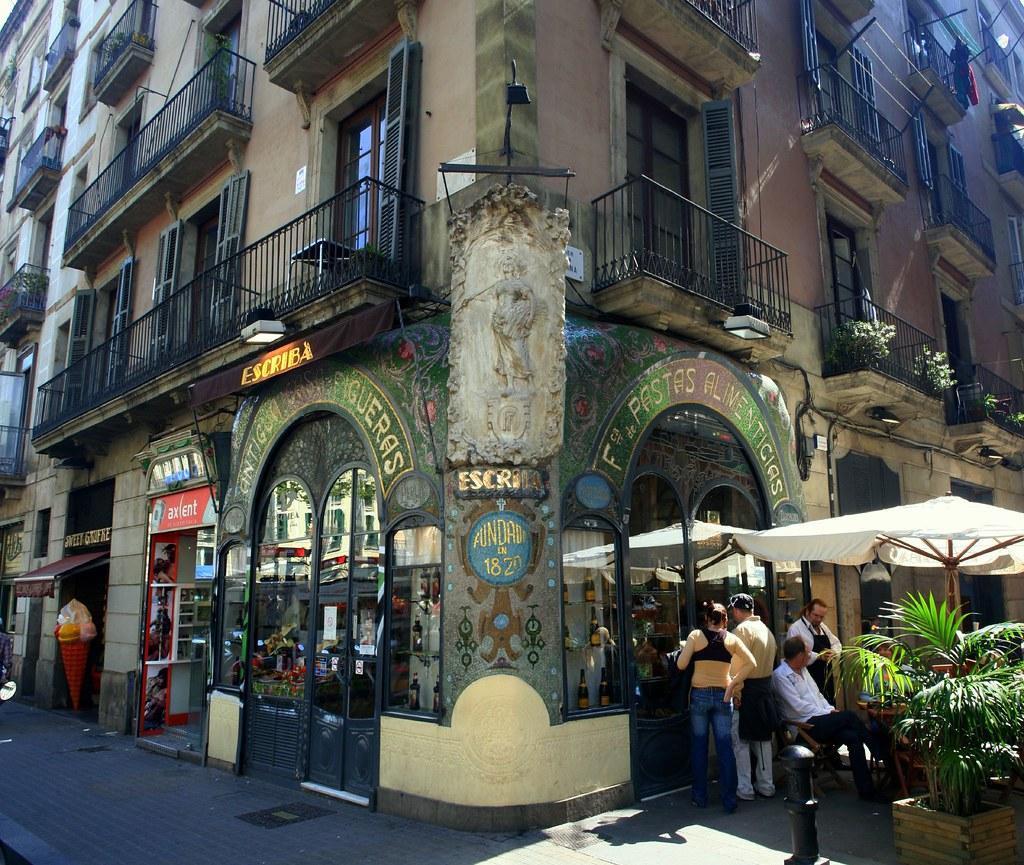 Enjoying cava in Barcelona