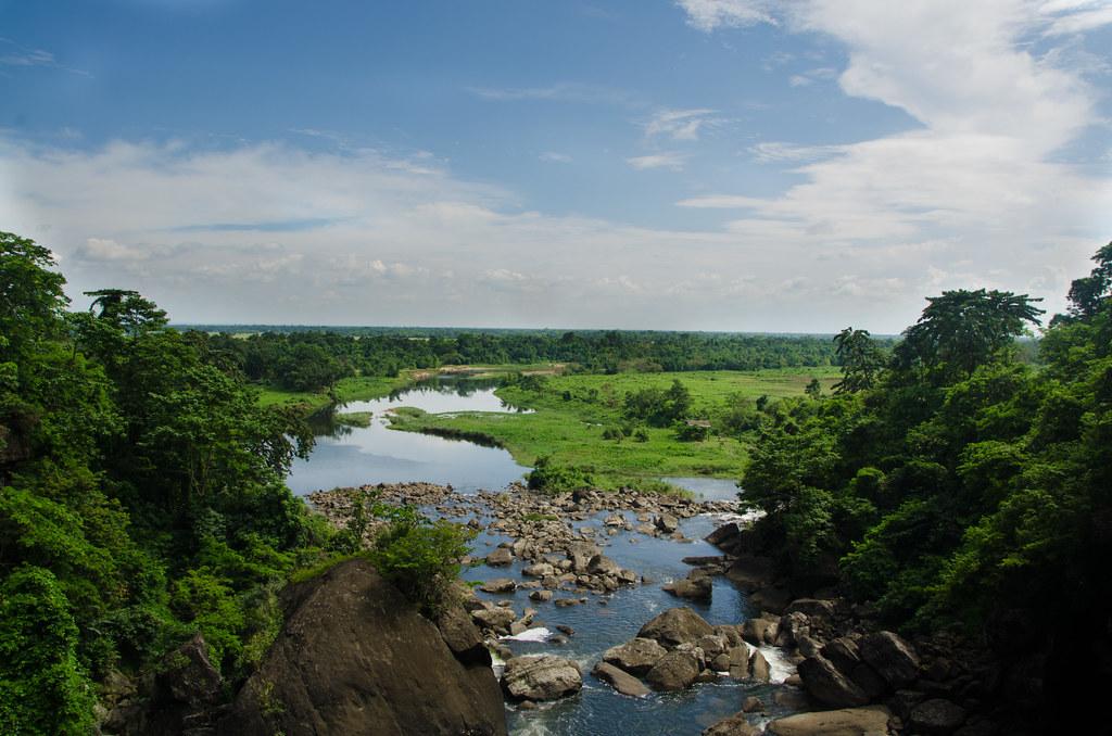 View of Bangladesh from Meghalaya.