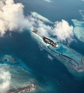 Aerial view of Agatti Island