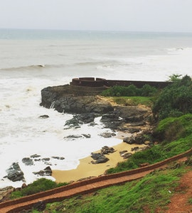 The bekal beach and fort