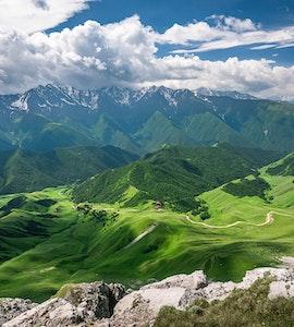 Scenic Caucasus mountain