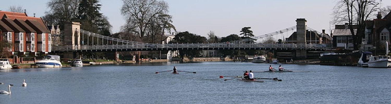 Marlow bridge across River Thames