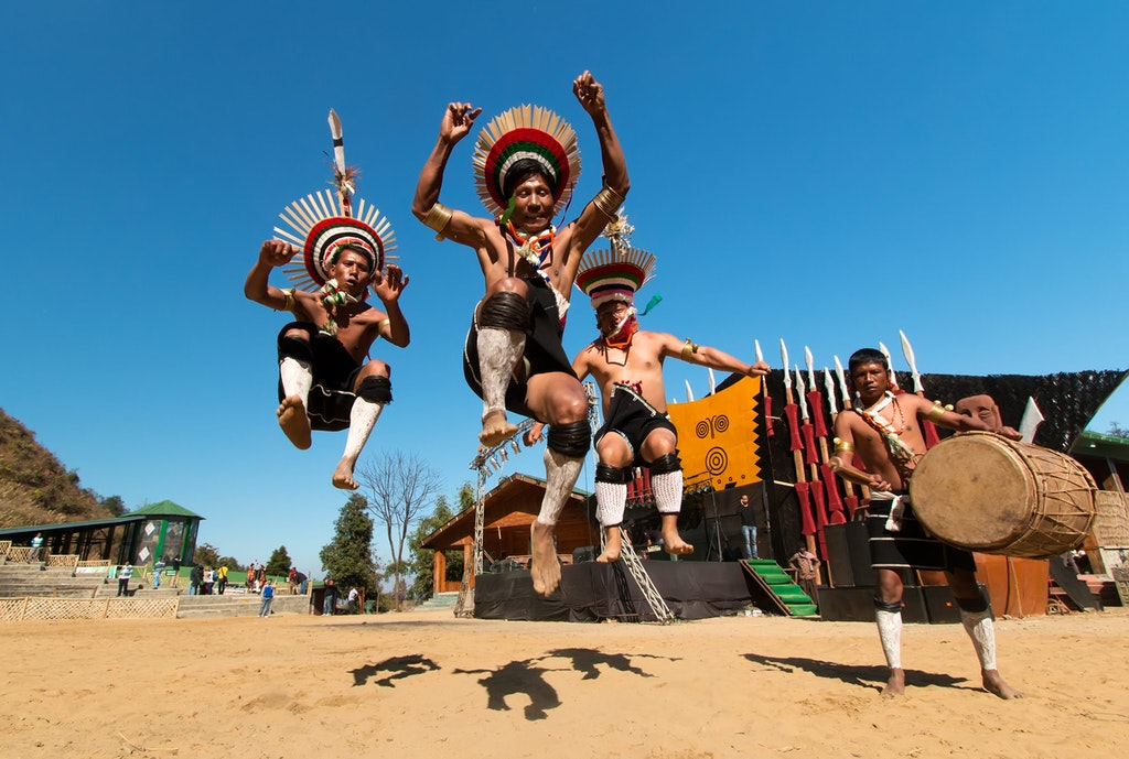 People performing at the Hornbill festival in northeast India