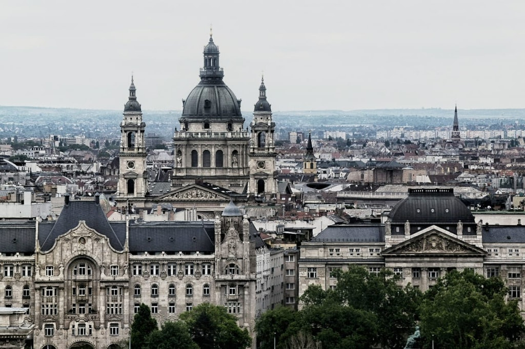 A view of St. Stephen's Basilica at Budapest