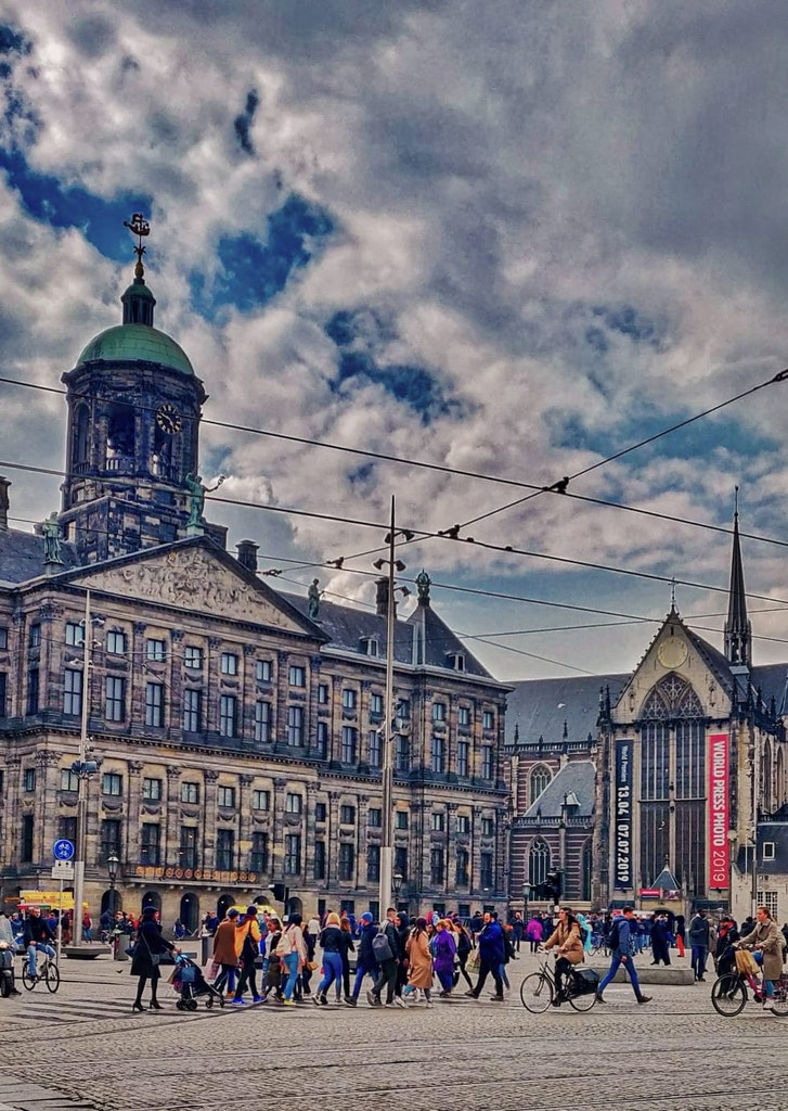 A picture of Grand palace that was taken at Amsterdam, on a happy vacation
