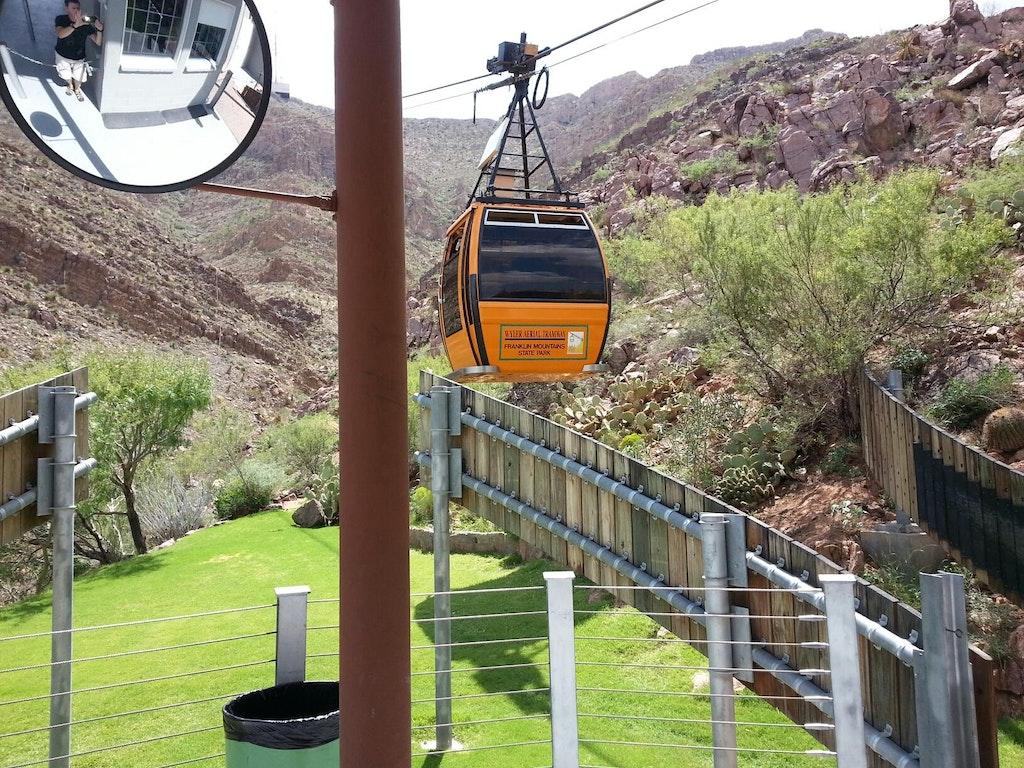 a gondola in texas tramway