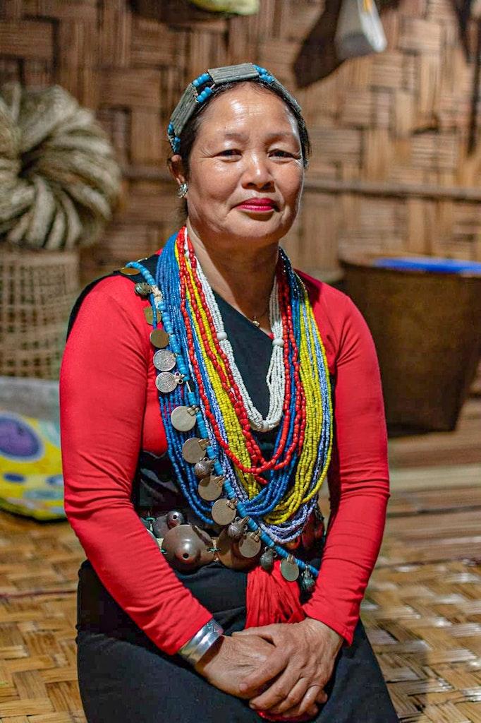 A Nyishi woman in Arunachal Pradesh