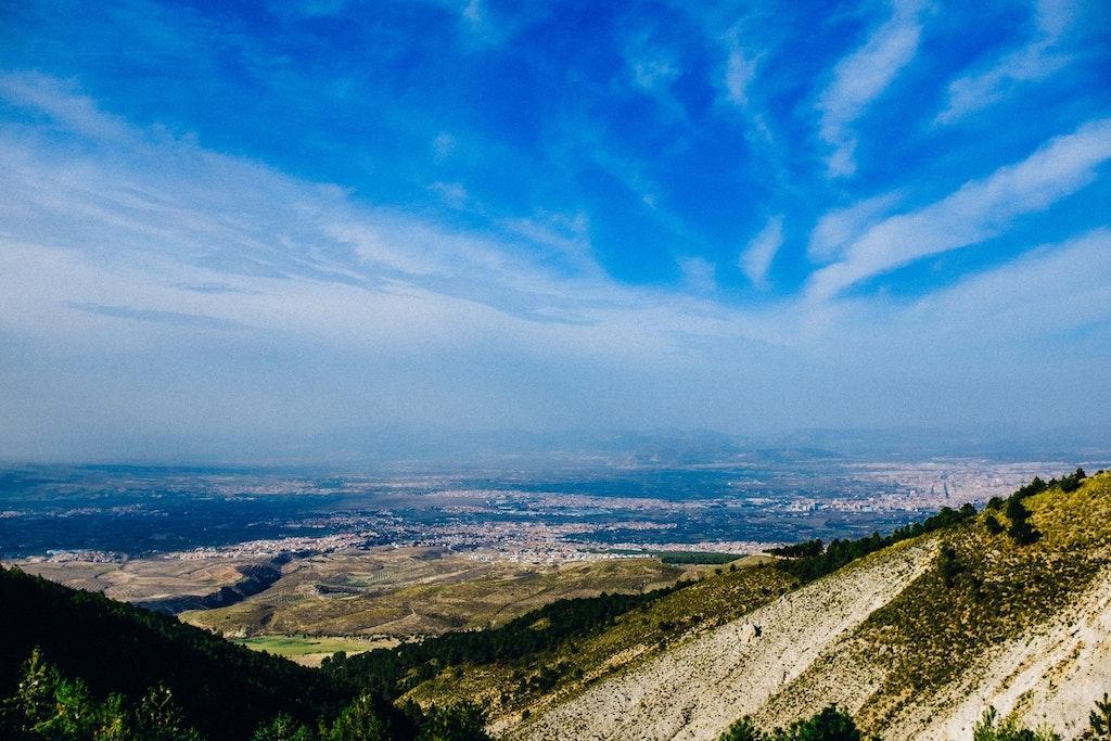 Scenic view of Sierra Nevada