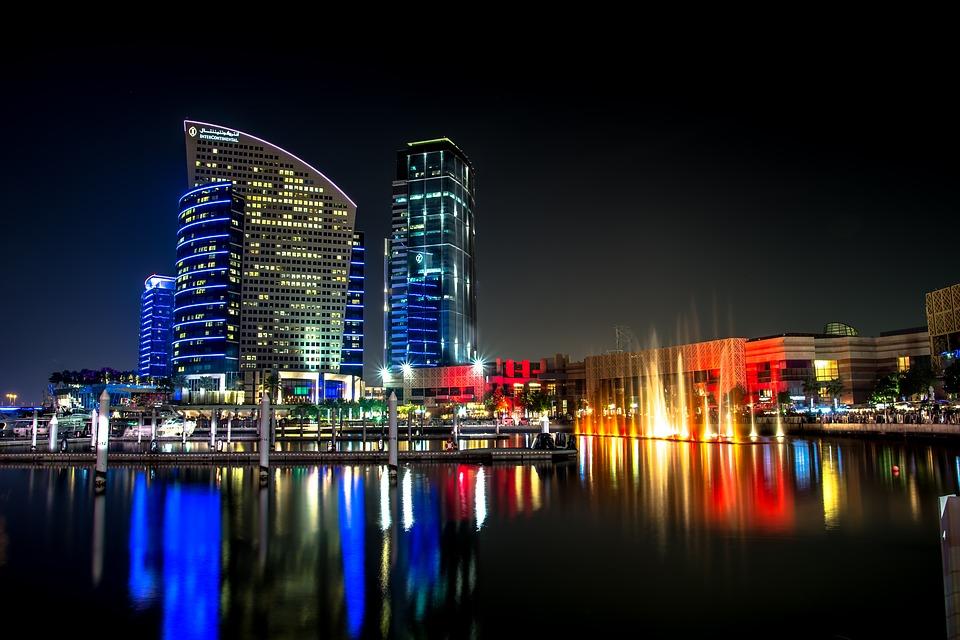 Dubai Buildings at night
